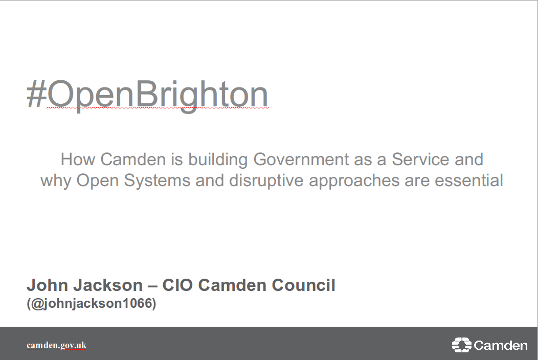 Open Source as disruptive force for Government - John Jackson