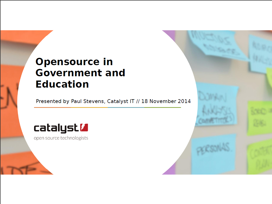 Open Source in Government and Education - Catalyst