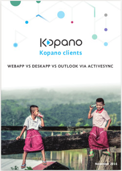 Kopano clients comparison