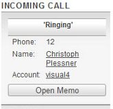 InfoHand Incoming Call